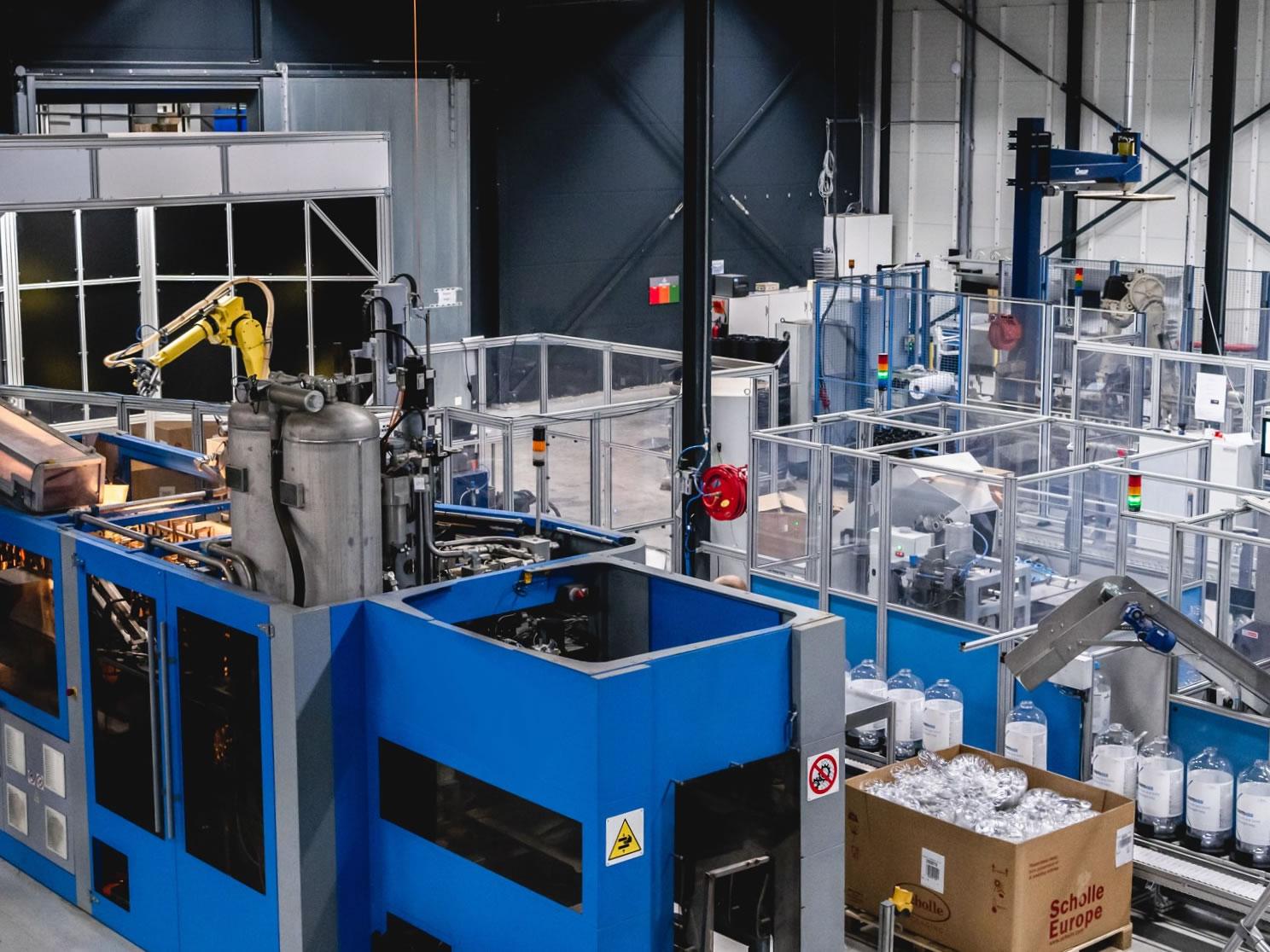 productielijn voor kunstof fust